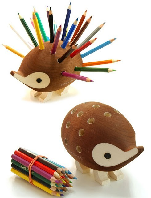 Hedgehog pencil holder