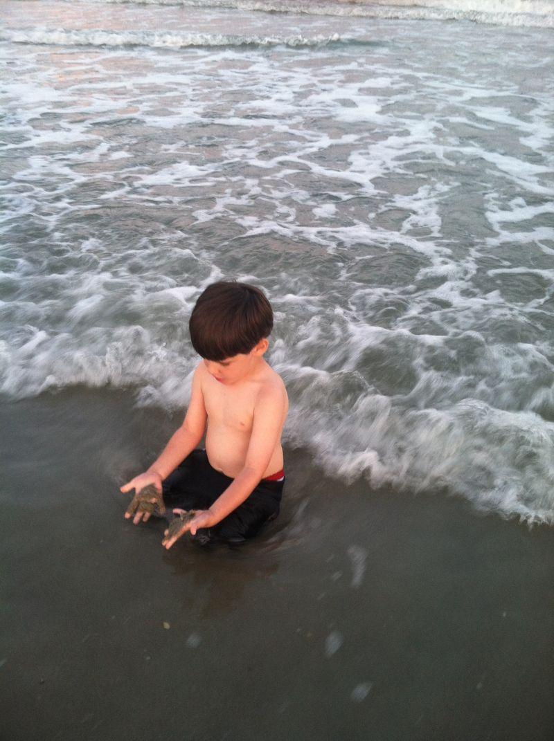 The beach